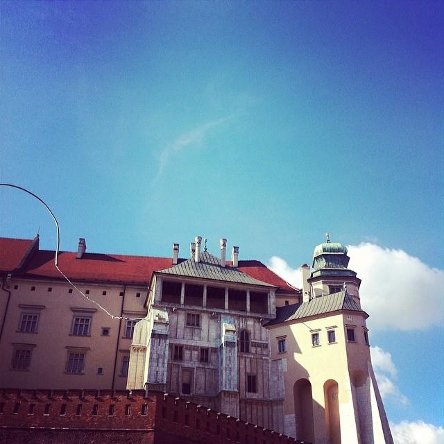Wawel castle horse and cart ride, Krakow, Poland