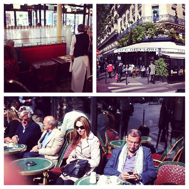 the terrace of cafe de Flore in Paris - Paris' oldest coffee house