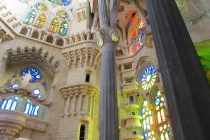 The inside of Gaudi's Sagrada Familia