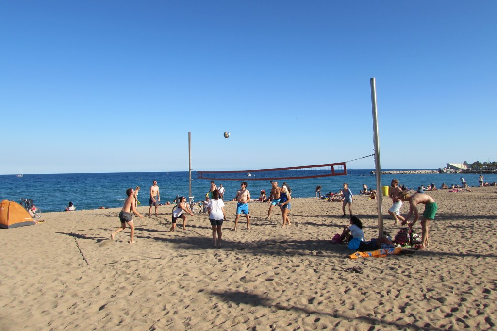 Volleyball on Barceloneta beach Barcelona