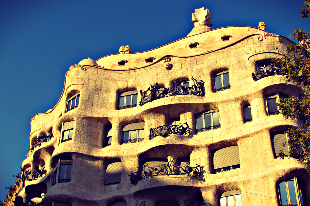 La Padrera - Gaudi building on Passeig de Gracia in Barcelona by Ben Holbrook from Driftwood Journal