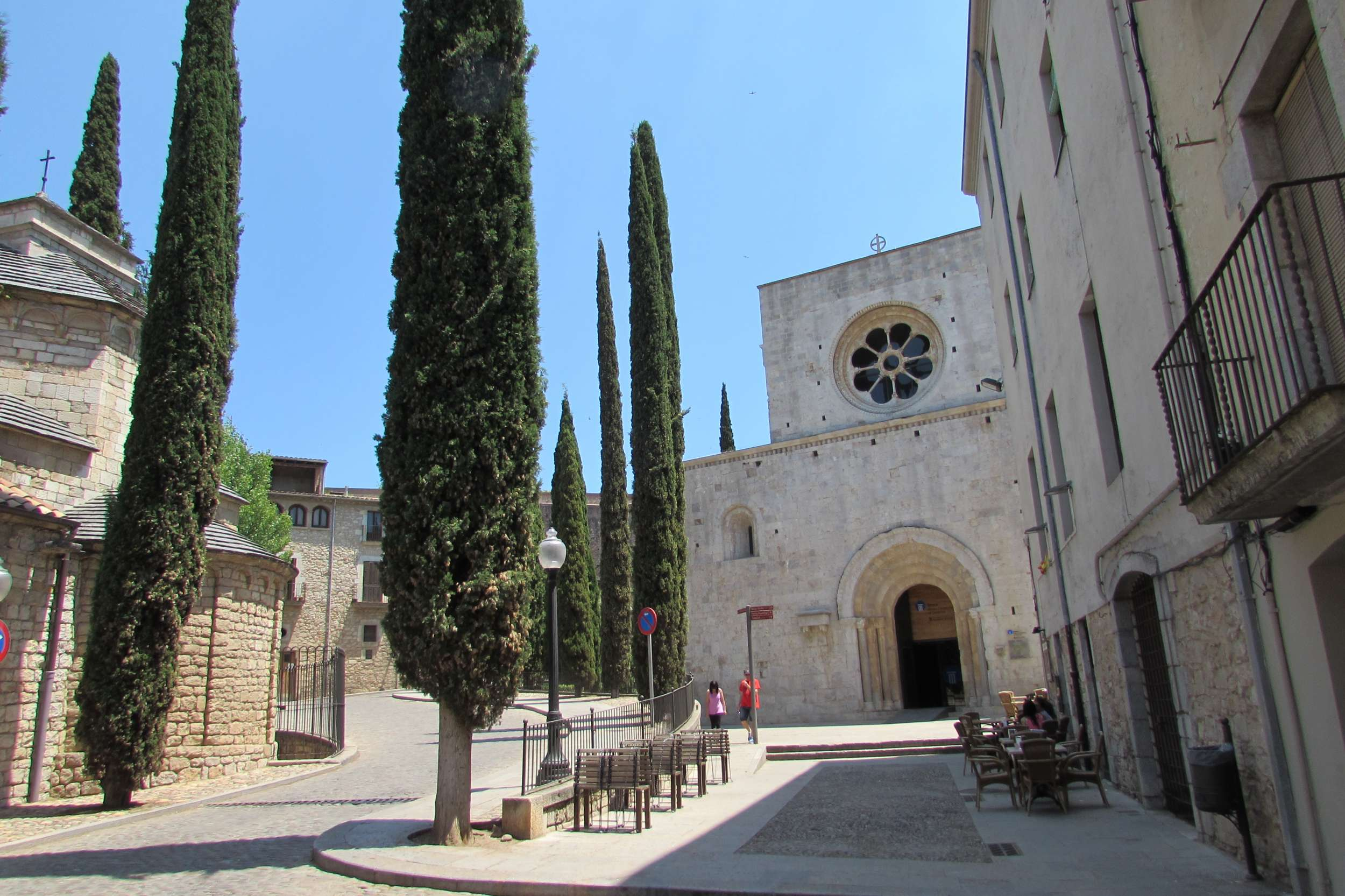 Girona (and the Costa Brava in general) is full of spiring Cyprus trees, which feature in many of local artist Salvador Dali's paintings.