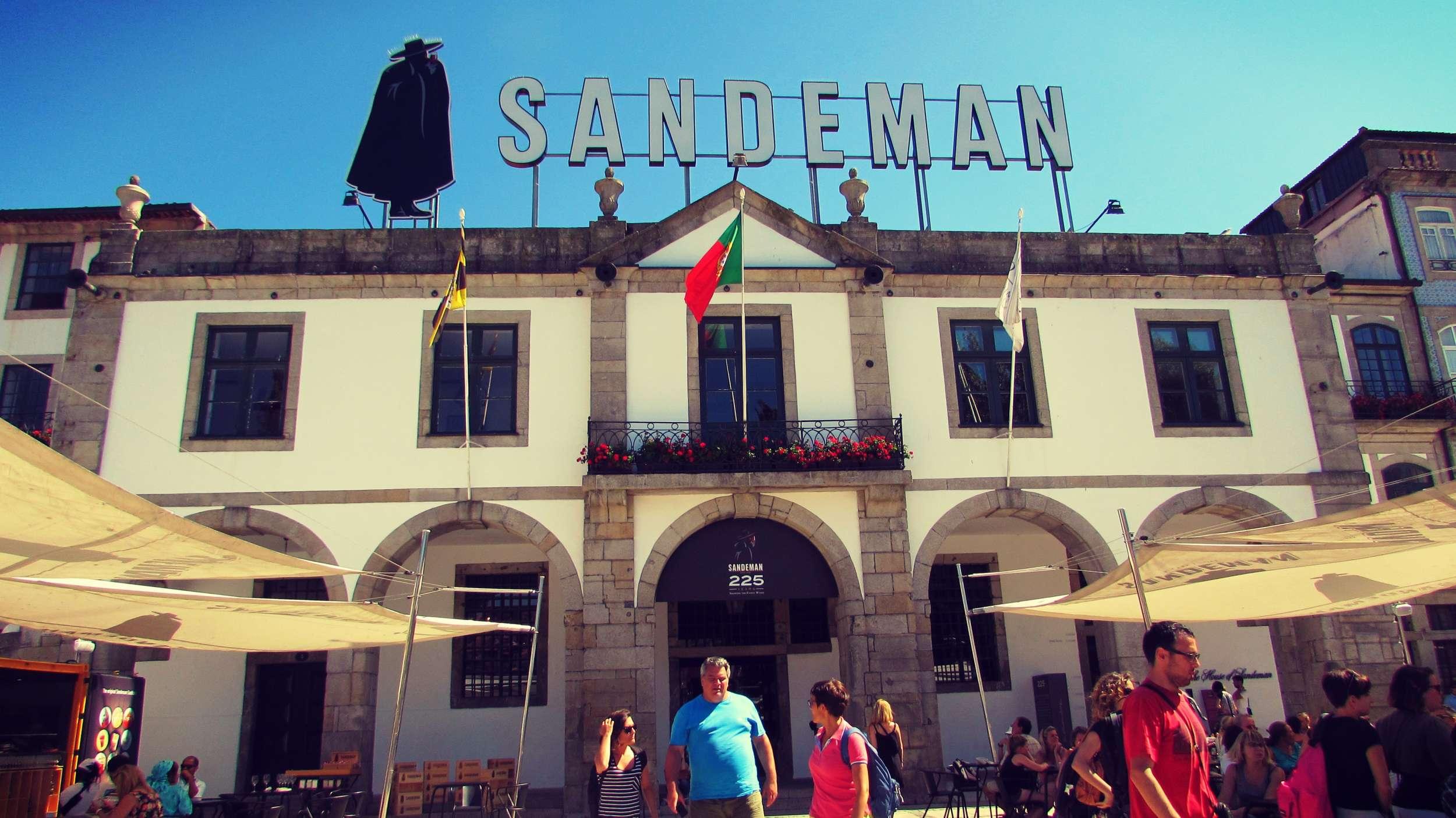 Sandeman Winery in Porto, Portugal