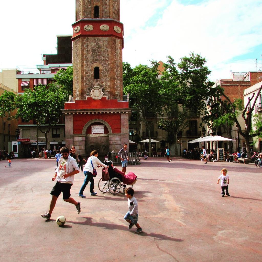 Village vibes in Gracia's lively Plaça de la Vila de Gracia