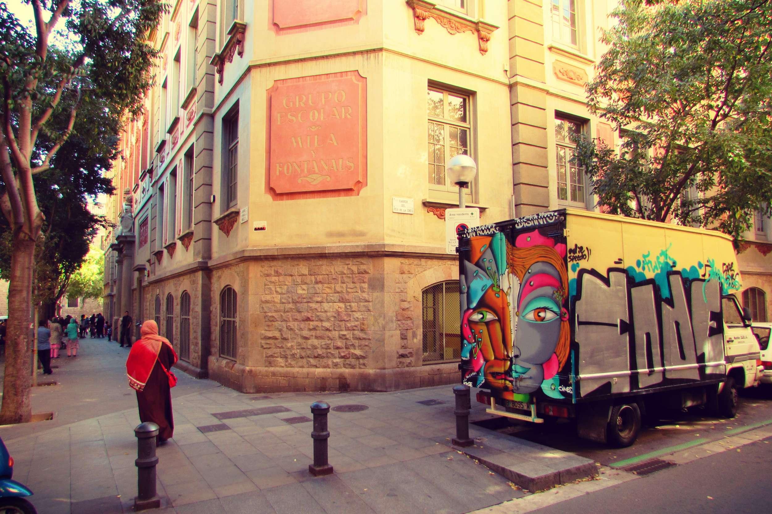 Raval neighbourhood Barcelona