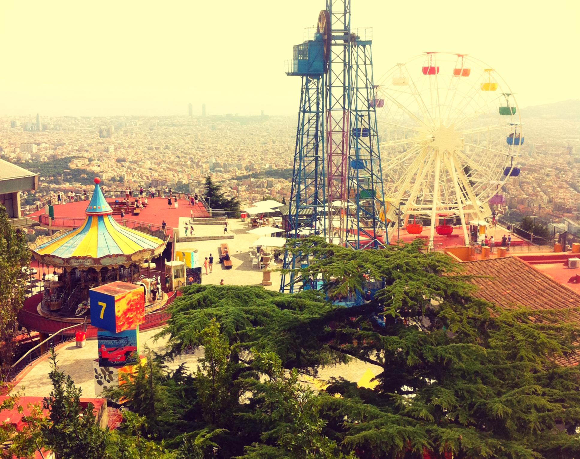 Tibidabo Theme Park Barcelona Mountains