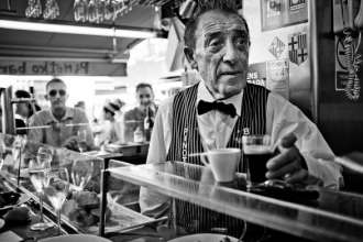 Juanito Bayen Owner of Pinotxo Bar in Barcelona La Boqueria Market on Las Ramblas - photo by Keith Davies