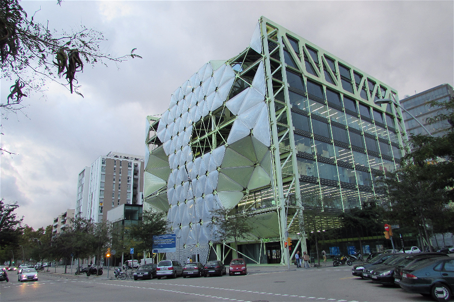 Media-TIC building in Porblenou, Barcelona. Part of the @22Barcelona urban regeneration project