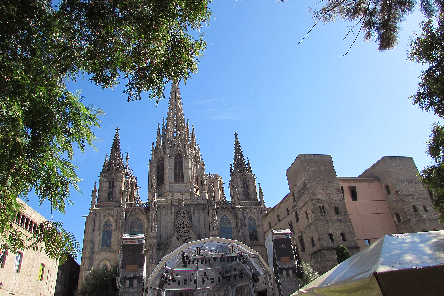 Barcelona cathedral in the Gothcic Quarter