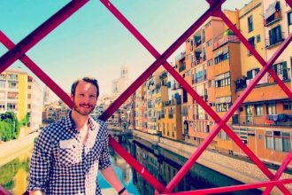 Burnt eyes and bleached views on the famous Eiffel Bridge in Girona