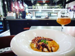 Grilled octopus at NaparBCN brewpub in Barcelona's Eixample barrio