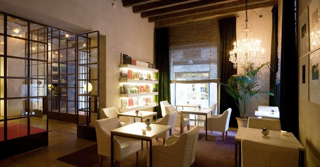 Library in Neri Hotel Gothic Quarter Barcelona