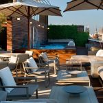 Rooftop terrace at luxury boutique hotel Omm in Barcelona