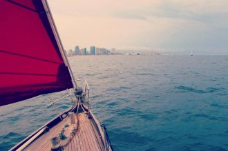 Sailing Trips in Barcelona with Gemini Vintage Sailboat