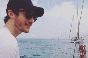 Travel writer sailing in Barcelona