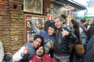 Party people at Mariachi Bar Gothic Quarter Barcelona