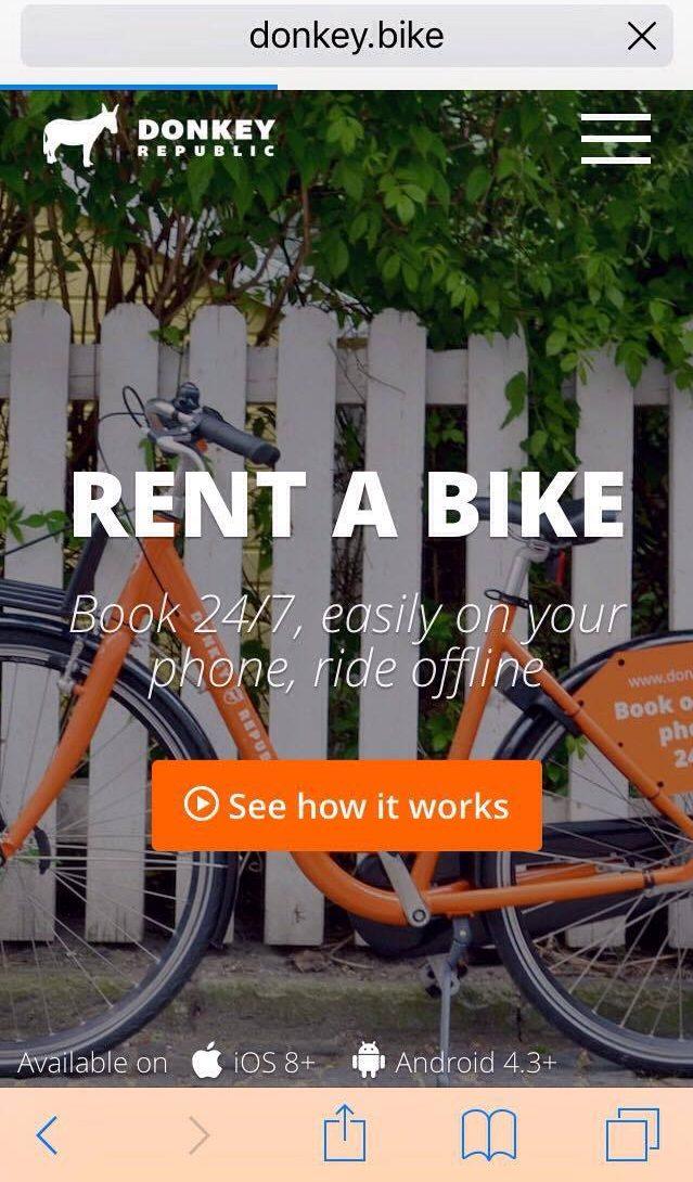Donkey Republic Bike Rental App in Barcelona