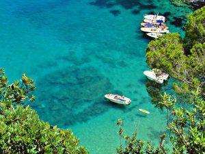 Crystaline waters along the Meditarrean Costa Brava in Catalonia