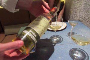 Wine at Disfrutar Restaurante in Barcelona