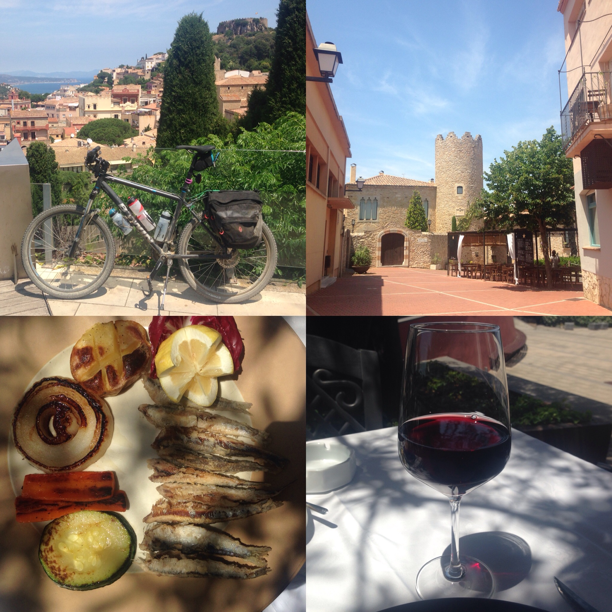 Eating and drinking in Begur village, Costa Brava