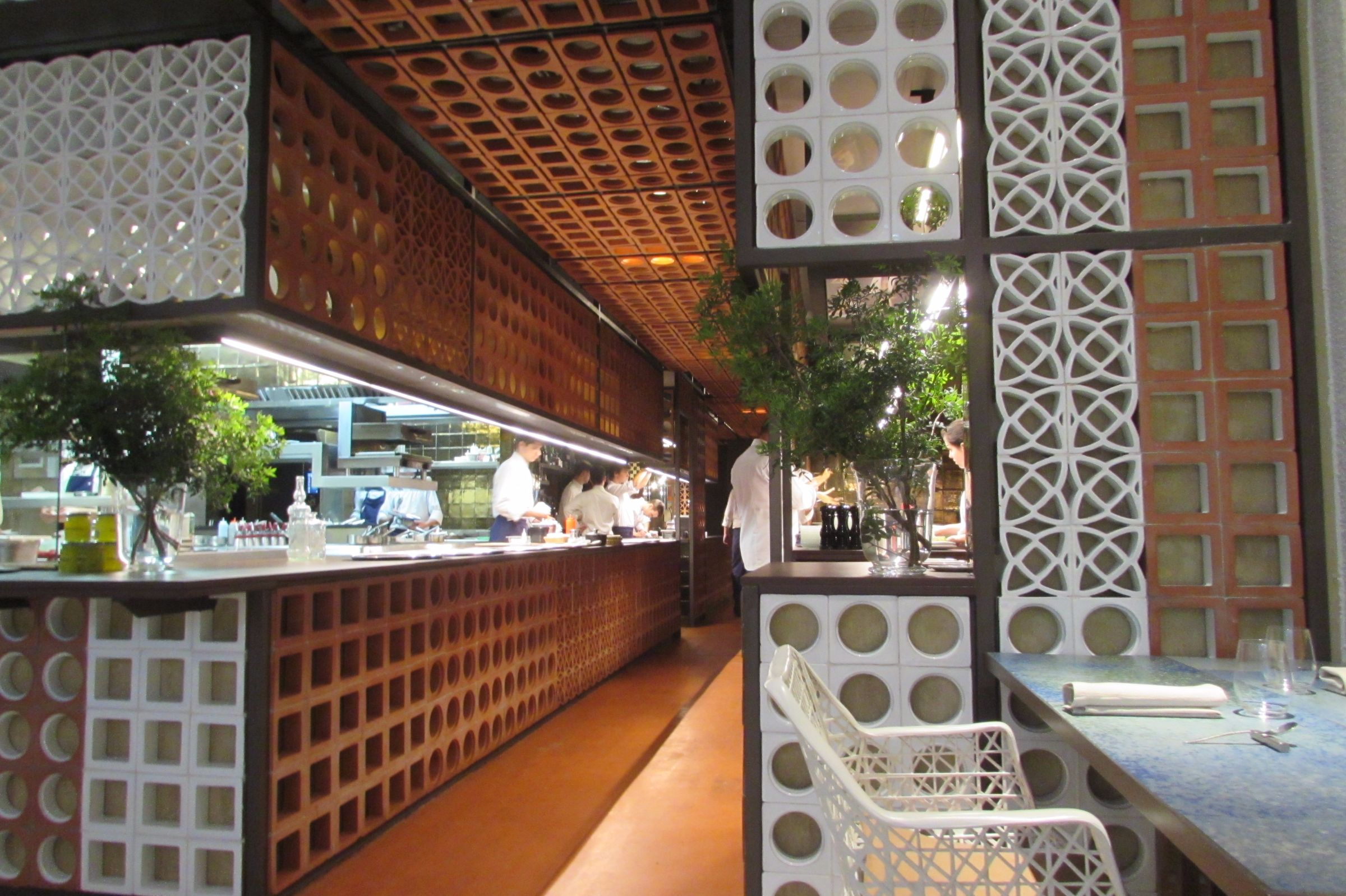 The decor is inspired by the Ninot food market located across the street from the restaurant.