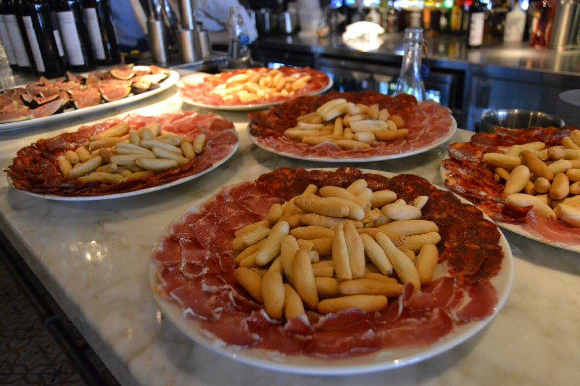 Jamon tapas dishes