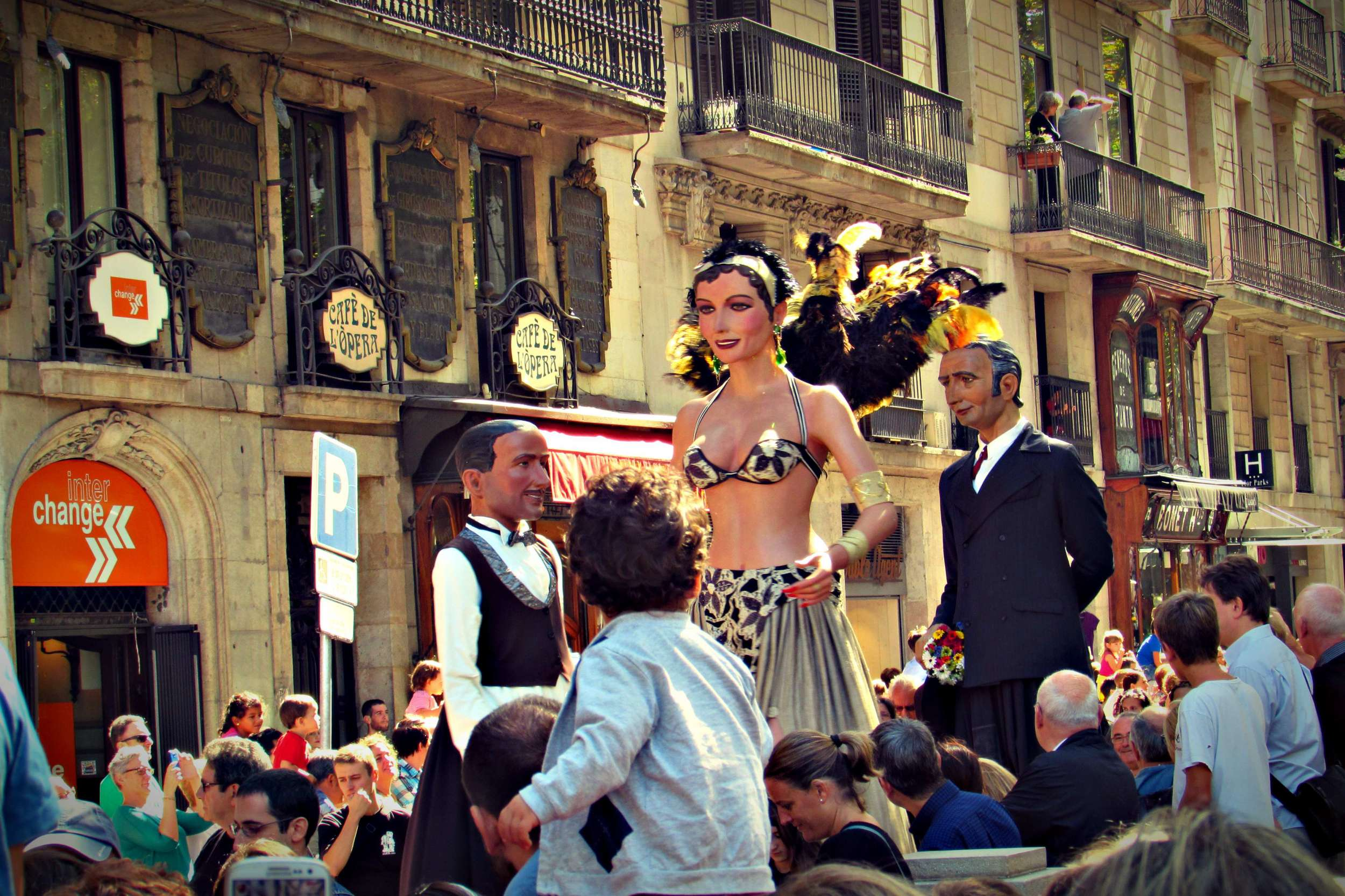 Giants Parade Barcelona La Merce Festival Every September