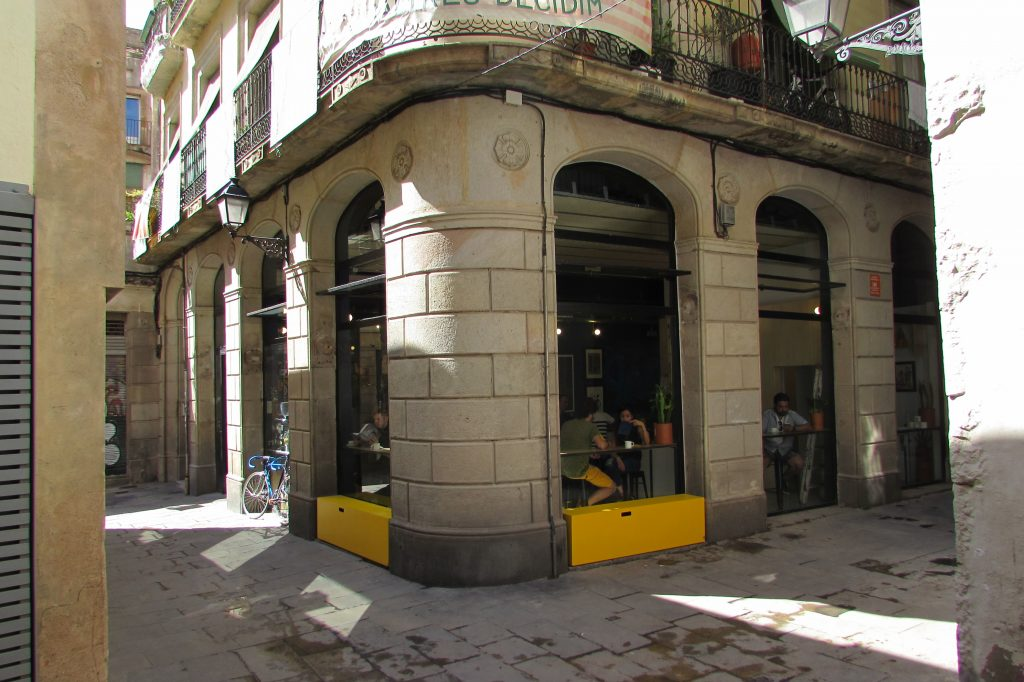 Third-wave coffee at Satan's Coffee Corner in Barcelona
