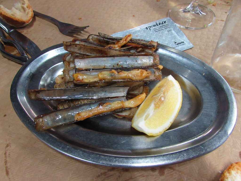 Navajas - Razor clams in Asturias