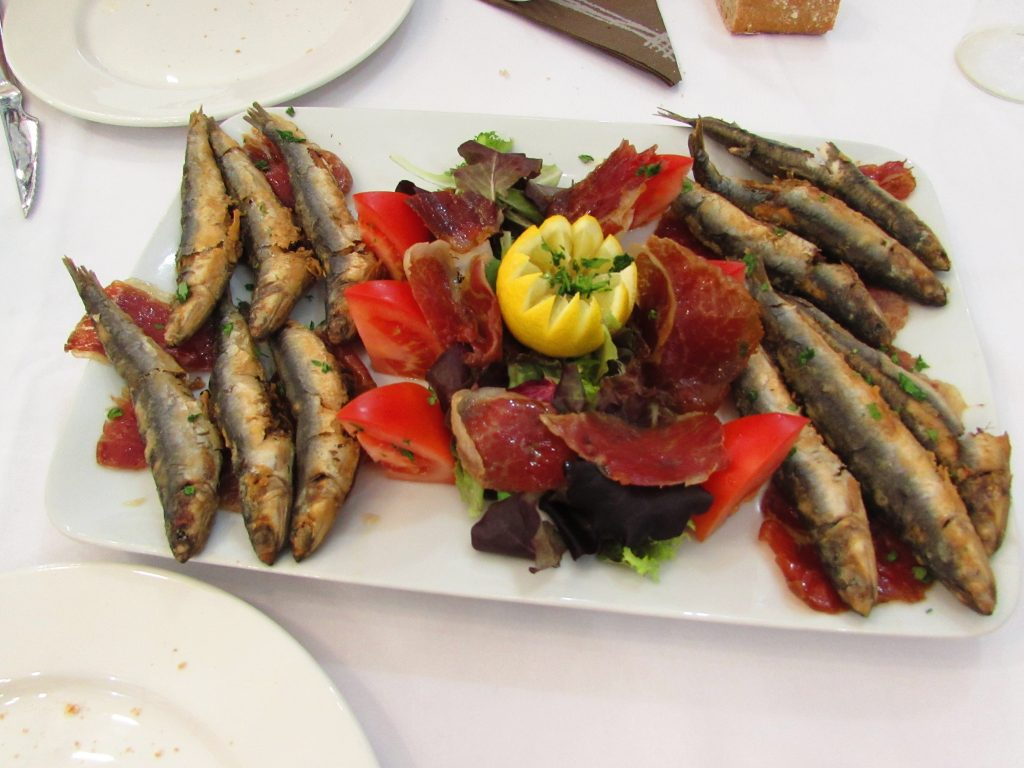 The best sardines in Asturias - at La Pumarada Sideria and Restuarant in Gijon