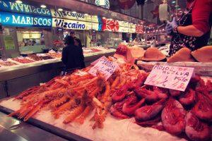 Fish market in Valencia's central market