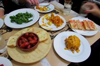 Essential Spanish tapas dishes on the Wanderbeak walking food tour in Barcelona