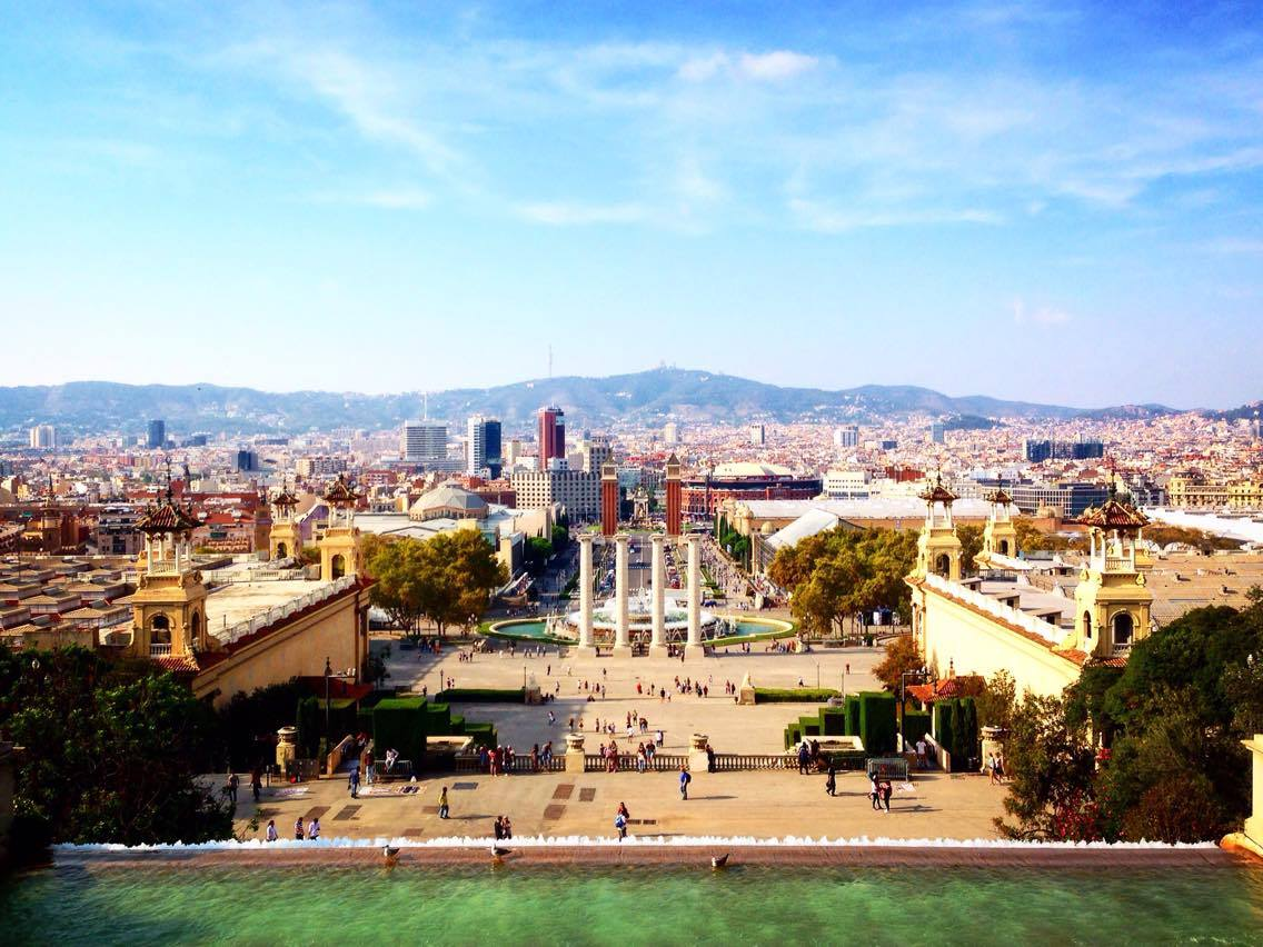 Best city views of Barcelona from MNAC Art Museum