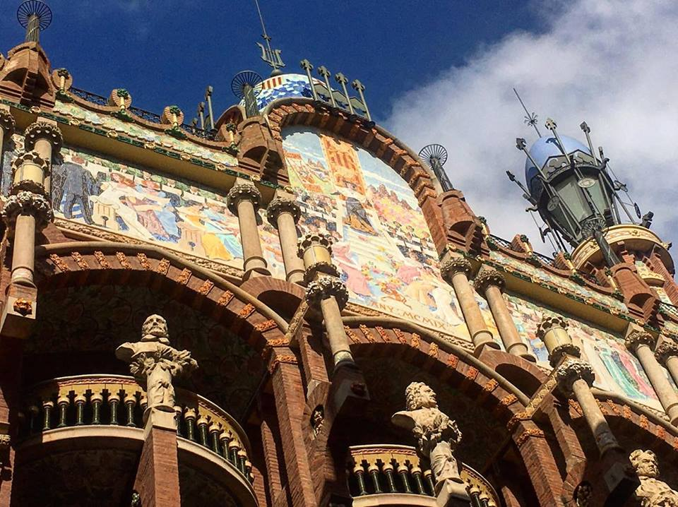 Palau de la Musica Catalana concert hall in Barcelona ~ Barcelona Food Sherpa Market Tour and Home Dining Experience
