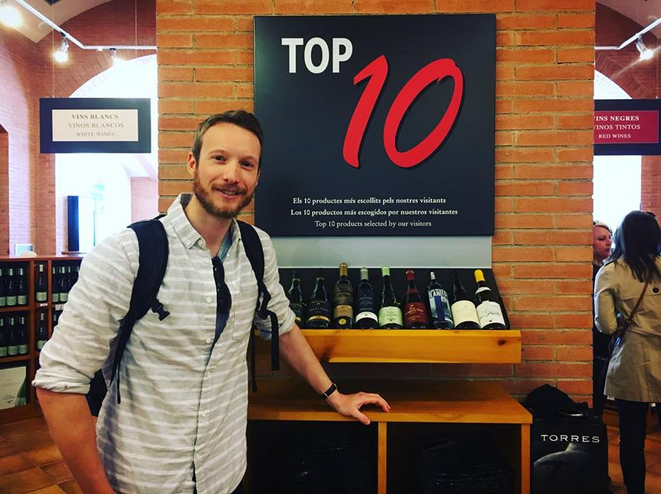 Ben Holbrook Travel Writer wine tasting in Pendes near Barcelona