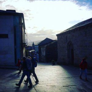 Leaving Sarria to walk to Portomarin Camino