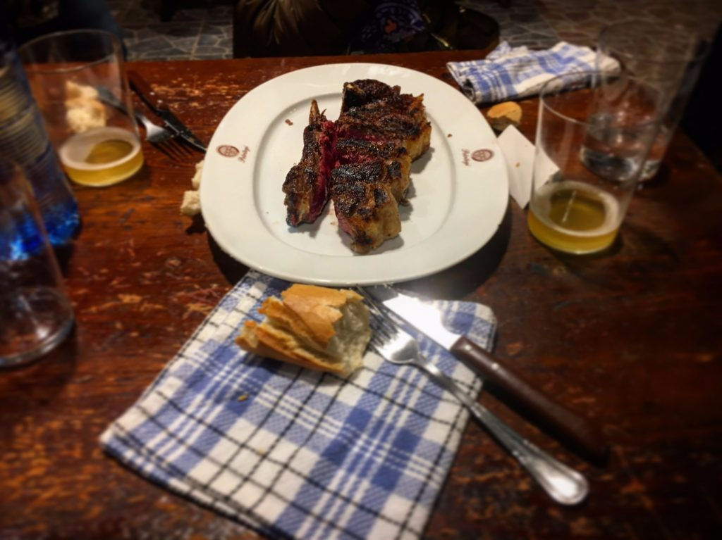 Ox steaks at Petritegi sagardotegi