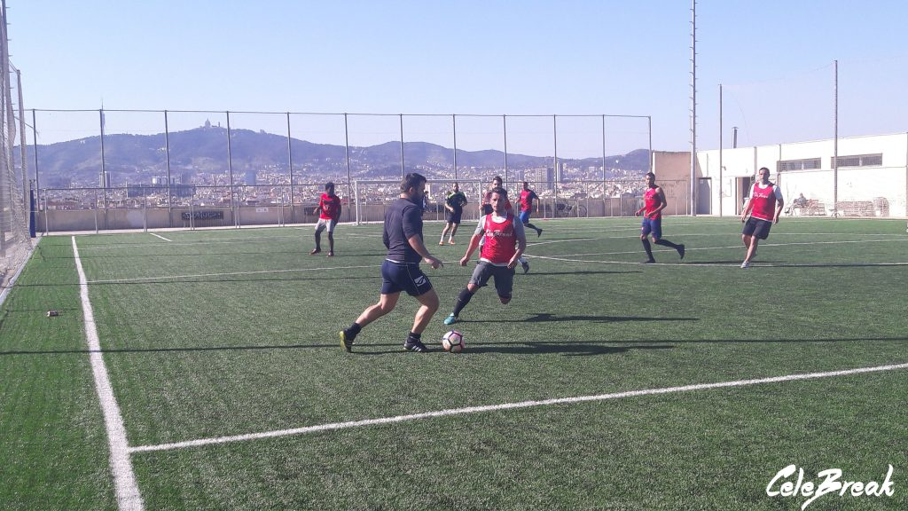 Play local against local football teams in Barcelona