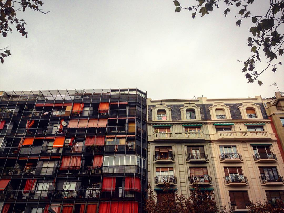 New next to the old, typical of Barcelona - by Ben Holbrook