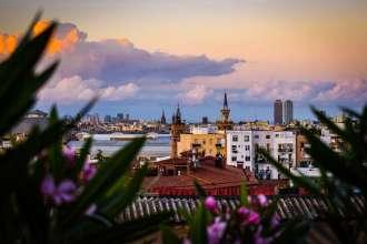 Barcelona skyline - by Ben Holbrook