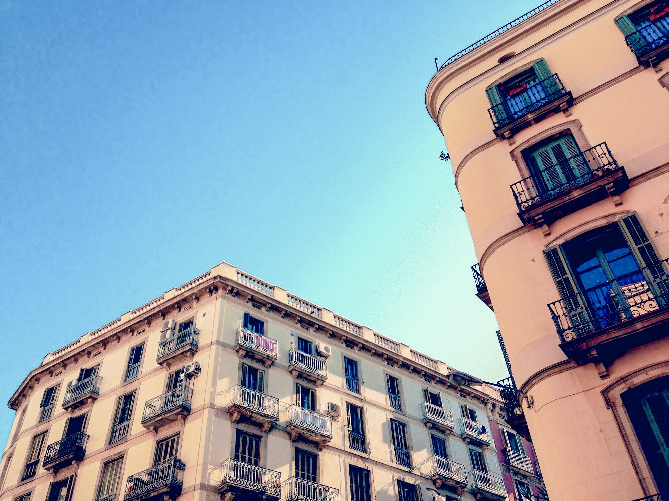 Beautiful buildings in Barcelona's Born Barrio