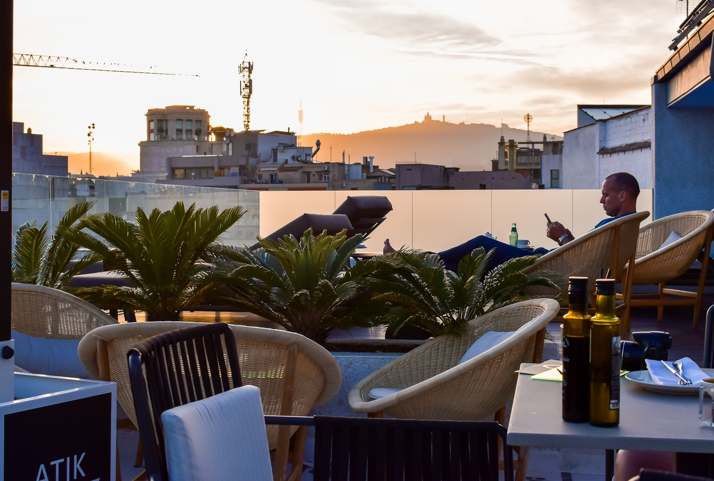 H10 Cubik hotel Barcelona rooftop terrace views over Barcelona