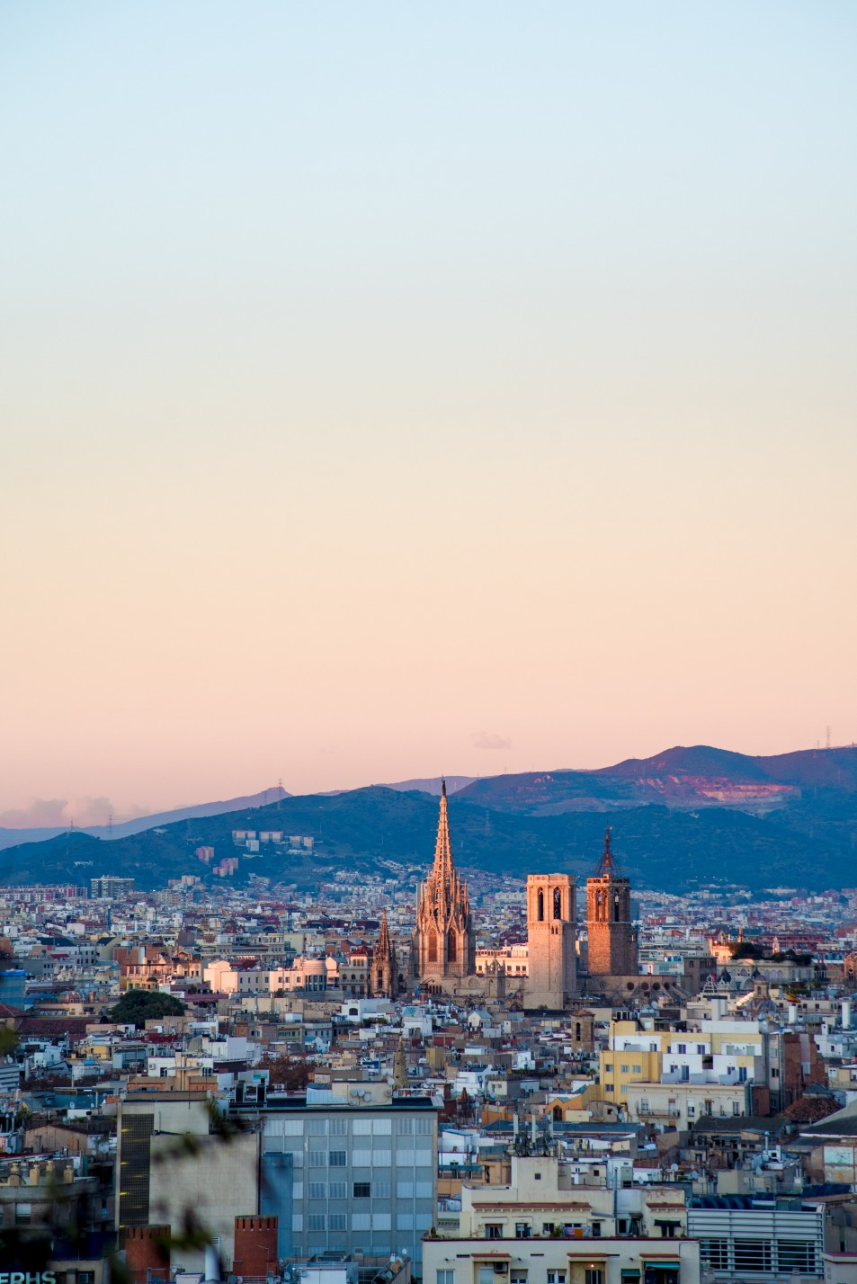 Barcelona Cathedral at dusk