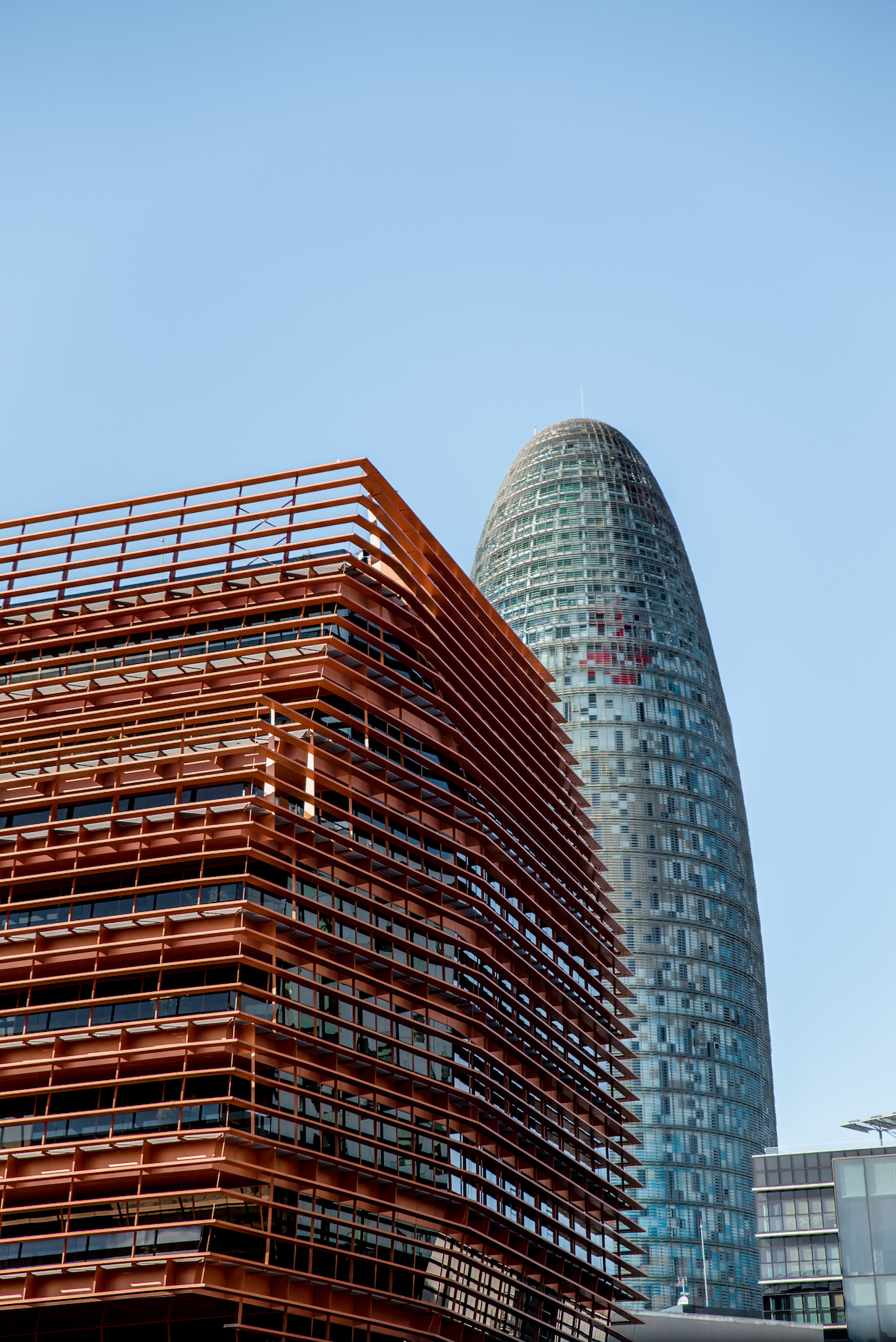 CMT Building Barcelona with Torre Glòries Barcelona / Torre Agbar behind / by Ben Holbrook
