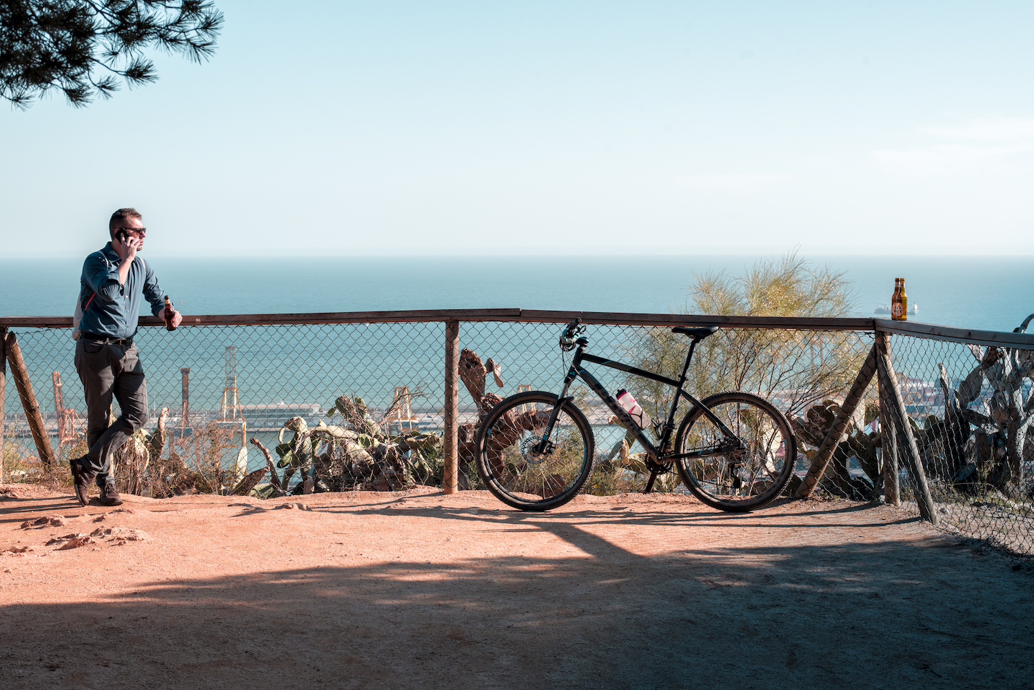 Mountain Bike Cycling Routes and Trails in Montjuic Barcelona