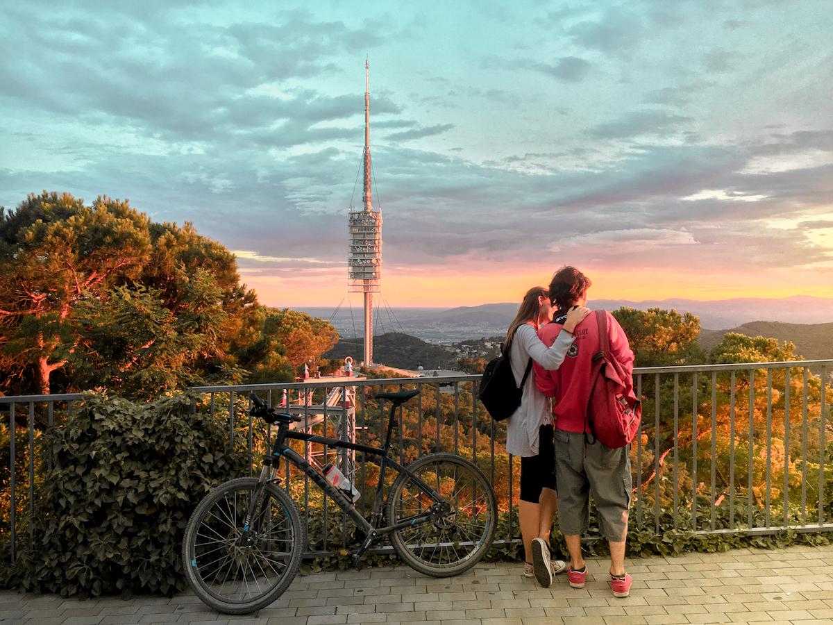 collserola barcelona cycling to tibidabo