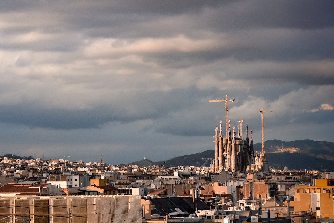 View of Sagrada Familia Barcelona from Avenida Palace Hotel - by Ben Holbrook