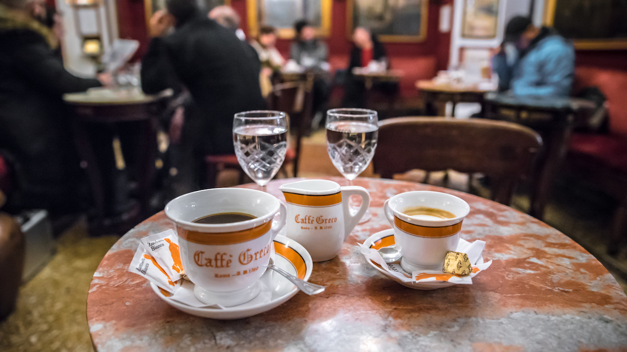 Antico Caffè Greco - the oldest coffee shop in Rome, Italy