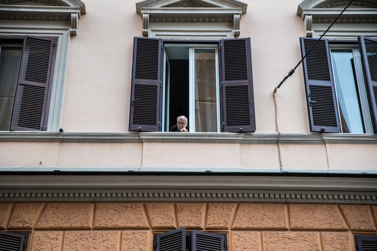 Local life in Rome's quiet Trastevere neighbourhood - by Ben Holbrook.