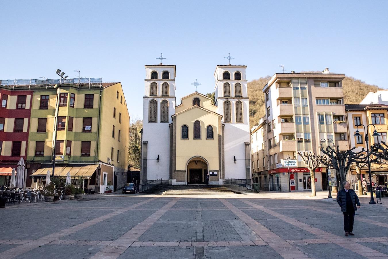 Church in Pola de Lena, Asturias, Northern Spain.